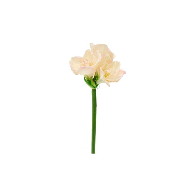silk flower arrangements renaissance 2000 queen amaryllis stem flower, salmon pink