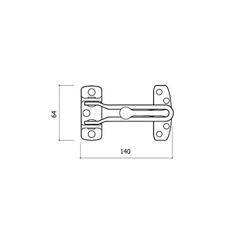 Nickel glk 301/Nm Sicherheits-T/ürkette