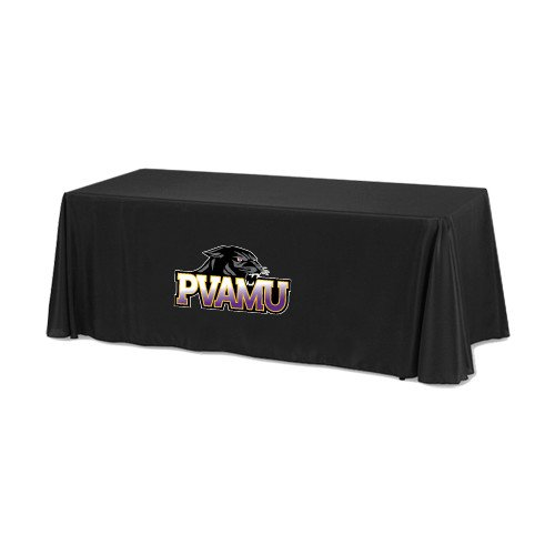 Prairie View A&M Black 6 foot Table Throw 'Official Logo' by CollegeFanGear