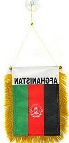 Kaputar ghanistan Mini Banner Flag Great for CAR Home Mirror Hanging 2 Sided (FI) | Model FLG - -