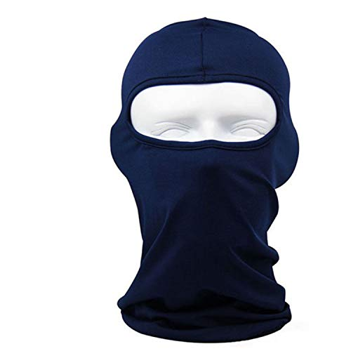 New Classic Lycra Ski Face Mask Bike Bicycle CS Sports Football Mask Balaclava Headband Headgear Halloween face mask #2a,Dark Blue -