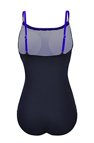f4c2dbc4cbc Zando Womens Vintage Frilly One Piece Swimsuit Tummy Control Swimwear  Swimsuits Color Splicing Plus Size Bathing
