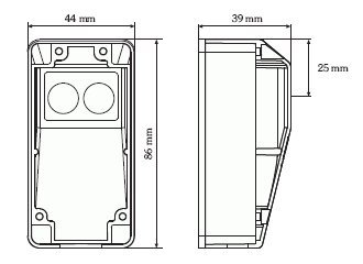 RP25 Cellule photo/électrique de s/écurit/é avec r/éflecteur pour portes et portails automatiques