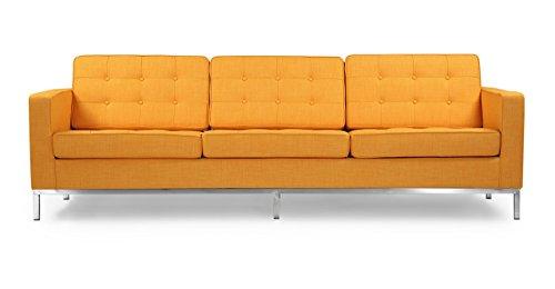 Florence Knoll Style Sofa 3 Seat, Citrus Pop Vintage Tailore