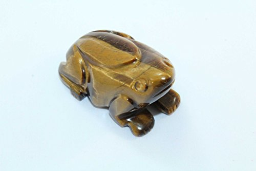 - PH Artistic Handmade Natural Tiger's Eye Gemstone Frog Figure Home Decorative Gift Item