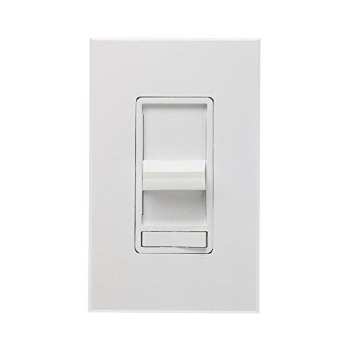 Leviton 80800-W 800W, Single-Pole, Renoir Preset Electro-Mechanical Incandescent Slide Dimmer, Narrow Fin, White