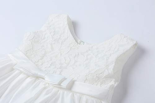LZH Vestito da Ragazza per Bambina Abito da Battesimo da Principessa per Matrimoni Sposa Compleanno 3