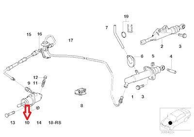 BMW Genuine Clutch Slave Cylinder for 850Ci 850CSi 540i 540i