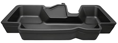 Husky Liners 09421 Black Under Seat Fits 2019 Ram 1500 Crew Cab Without Factory Storage Box