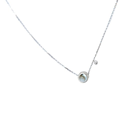 Collier or blanc Topaze Bleue In The Air