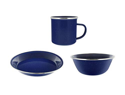 Direct 2 Boater Camping Dinnerware 1-Person Set, 3 Items - 1 ea of 24 oz Mug, 6