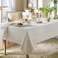 "Waterford Addison Linen Natural Table Cloth 70"" X 126"" Ob..."