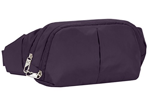 Travelon Anti-Theft Classic Slim Waist Pack, Purple, One Size