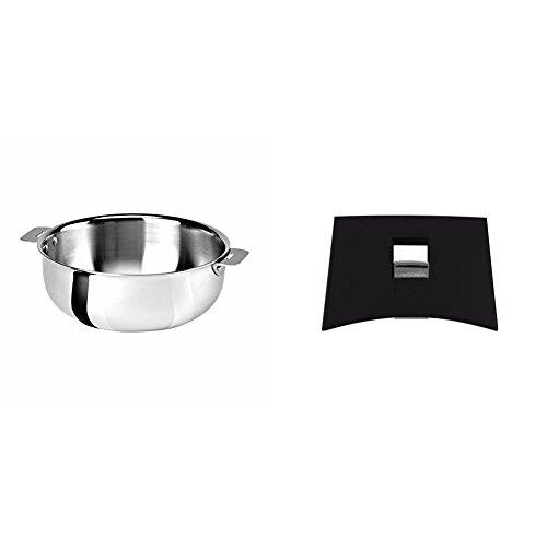 Cristel SR22QMP Saucier, Silver, 3 quart with Cristel Mutine Plman Side Handle, 1'', Black by  (Image #1)