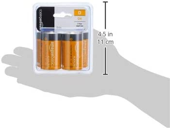 AmazonFundamentals D Cell Everyday Alkaline Batteries -Pack of four