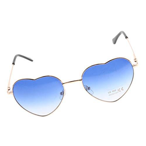 Femme D Pour Deguisements De Metallique 1 Dolity Lunette Cadre Bleu Party Paire Soleil RcnWqR4HzA
