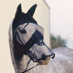 Cashel Quiet Ride Fly Mask With Ears and Long Nose - Size: (Draft Horse Riding)