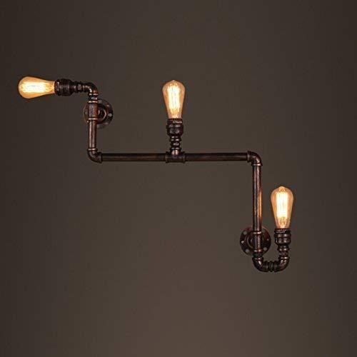 Lianliyiqing 水道管、壁ランプレトロランプロフトアイアンスタイルレストラン業界のエンジニアリングのインストール照明バーのクリエイティブ階段廊下E27装飾ランプ (サイズ : 60*60cm) B07QPFCBWD  60*60cm