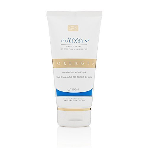 Wrinkle Collagen Hand Cream, 100% Natural Cream, Made in France, 5.07oz / 150ml by Salcoll Collagen