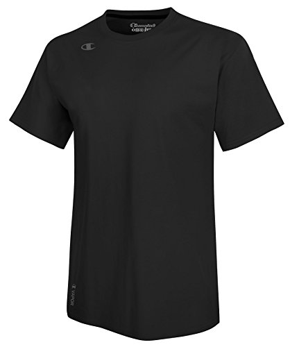 Champion Men's Vapor Cotton Short Sleeve Tee, Black, X-Large