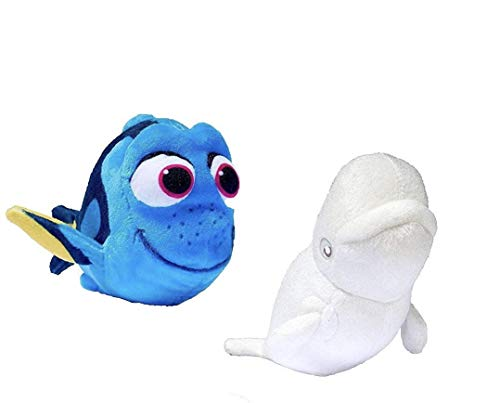 Bandai Finding Disney Pixar Baby Dory 6'' Mini Plush Bailey Dory Bundle (Set of 2) by Disney-Bandi