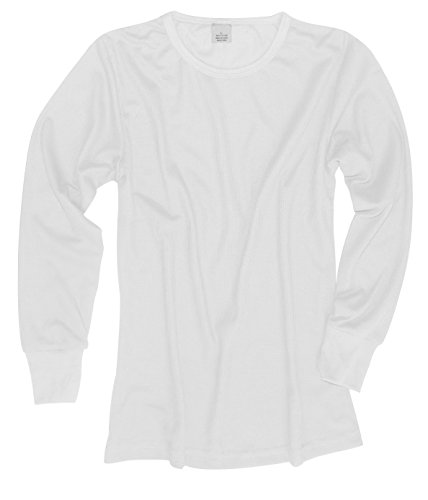 Peach Couture 100% Cotton Womens Waffle Knit 2 Pcs - Top & Bottom Thermal Set (XL, White)