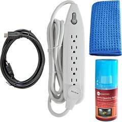 (Belkin PureAV HDTV Essentials Kit with HDMI Cable, Surge Protector and Cleaning Spray (Discontinued by)