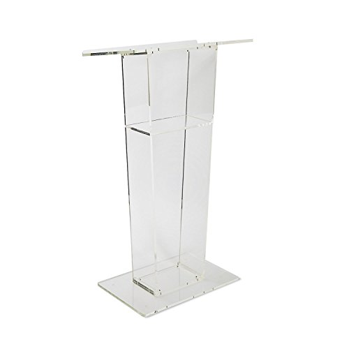 Acrylic Lectern - SourceOne Modern Clear Acrylic Podium Lecturn (Floor Length)