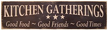 - CWI Messenger Block Wood Kitchen Gatherings Distressed Country Rustic Sign Black