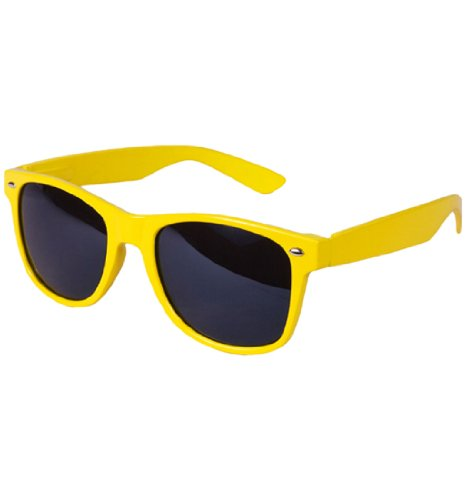 Retro Vintage Classic Style Retro Classic Sunglasses Shades (Yellow/Black, - Shutter Yellow Shades