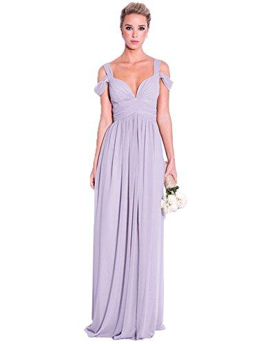 Doppel Chiffon Erosebridal Lavendel Bügel Schatz Brautjungfernkleider Tropfen wq5nza546