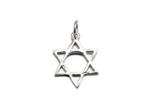 .925 Sterling Silver Star of David Charm