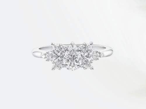 6 Exquisite Pear-Shaped Cluster White Sapphire Engagement Ring 925 Silver Jewelry