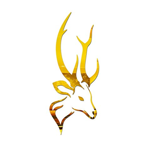 Fine Christmas Deer Head Shaped Design 3D Wall Stickers, Creative DIY Fashion -