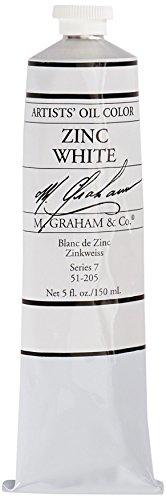 M. Graham Artist Oil Paint Zinc White 5oz Tube