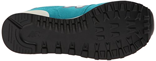 New Balance Classics Womens WL574 Pennant Collection Sneaker Teal/White 4s7eXO7u81