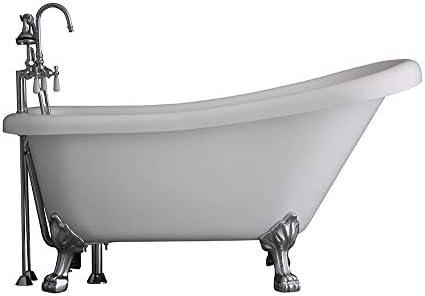 62 Classic CoreAcryl Acrylic Clawfoot Bath Tub and Faucet Pack