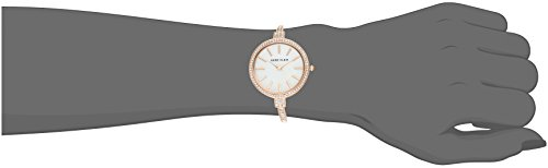 Large Product Image of Anne Klein Women's AK/2846RGST Swarovski Crystal Accented Rose Gold-Tone Watch and Bangle Set