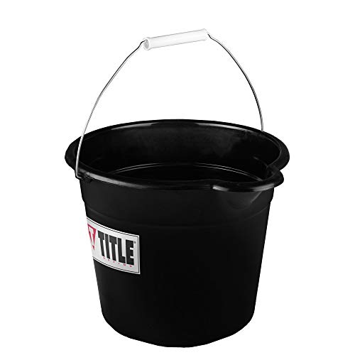 Title Boxing Corner Spit Bucket, Black, 9 Qt