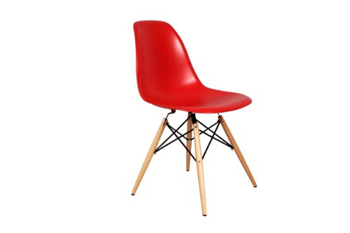 Control Brand Mid-Century-Inspired Eiffel Dining Chair, Red