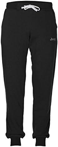 Jeep Pantalones de chándal de Tejido cardado con Bolsillos Logo Small» J6W para Hombre: Amazon.es: Ropa y accesorios