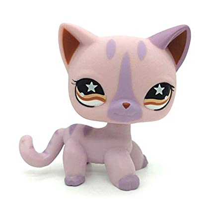 5041d943ab Amazon.com  LPS Shorthair  933 Purple Red Eyes Cat Littlest Pet Shop  Collector Toy Collectible Replacement Single Figures  Toys   Games