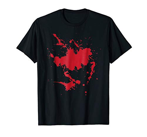 BLOODY SHIRT SPLATTERED BLOOD SCARY EASY HALLOWEEN -