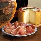 La Tienda Artisan Young Manchego Cheese plus Sliced Serrano Ham (2.2 lb Cheese and 4 oz Ham)