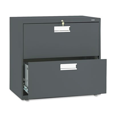 600 Series Two-Drawer Lateral File, 30w x 19-1/4d, Charcoal, Sold as 1 Each
