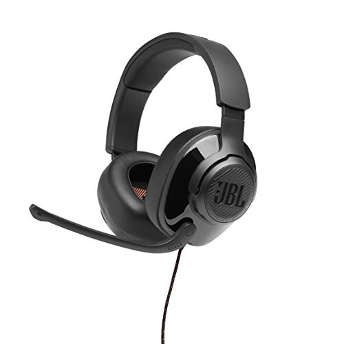 JBL Quantum 200 Wired Over-Ear Gaming Headset with Microphone, PC and Console Compatible, in Black