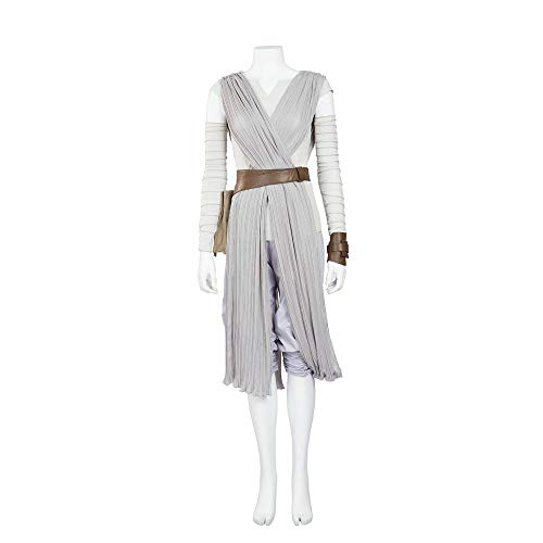 cossun Star Wars The Force Awakens Rey Cosplay Costume Halloween Party for girls women (XL) -