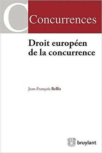 Livre Droit européen de la concurrence pdf ebook