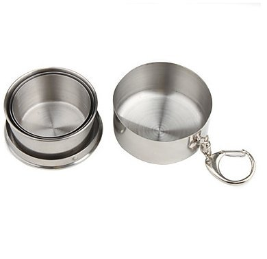 Stainless Steel Retractable Travellers Cup with Keychain (Large/185ml)