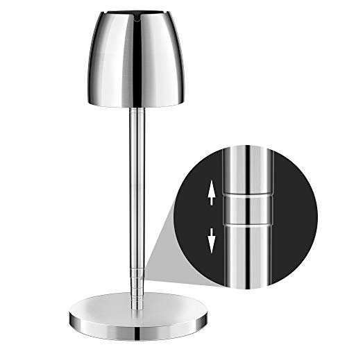 Villsure Ashtray, Outdoor Ashtray for Cigarettes, Portable Large Windproof Ashtray for Patio Stainless Steel Telescopic Floor Standing Ash Tray for Home/Outside/Bar/Office